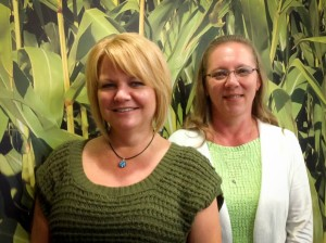 The customer service team of Karyn (left) and Brenda (right)